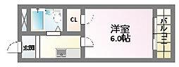 レガーレ駒川[5階]の間取り