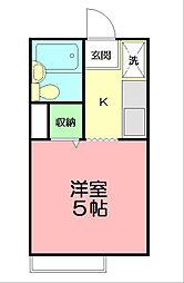 SKハイツ第6[1階]の間取り