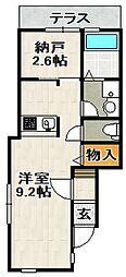 ONLYONE山本II[1階]の間取り