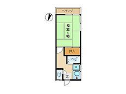 東京都世田谷区豪徳寺2丁目の賃貸アパートの間取り