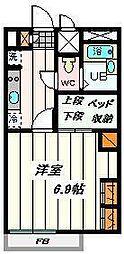 埼玉県戸田市下前1丁目の賃貸マンションの間取り