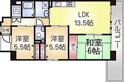 兵庫県神戸市長田区大道通3丁目の賃貸マンションの間取り