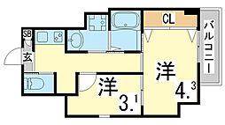 鷹取駅 5.5万円