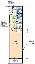 大阪府堺市堺区老松町1丁の賃貸アパートの間取り