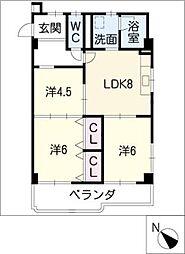 ヴィラNAKANO[3階]の間取り
