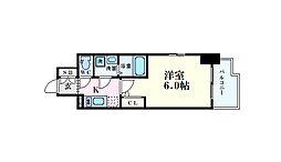 エスリード大阪ドームCERCA(セルカ) 4階1Kの間取り
