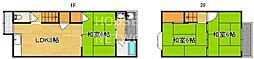 [一戸建] 京都府京都市北区上賀茂東上之段町 の賃貸【/】の間取り