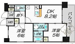 エステムプラザ梅田・中崎町IIIツインマークスサウスレジデンス[13階]の間取り