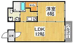 ブランカ堺東[5階]の間取り