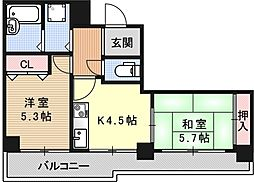 ライオンズマンション京都紫野[401号室号室]の間取り