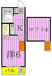 プロシード稔台[110号室]の間取り