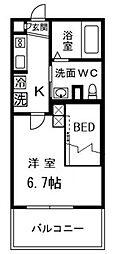 テルトルルージュIII(テルトルルージュ3)[1階]の間取り