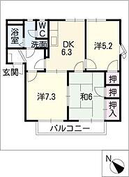 クレストアベニューA棟[1階]の間取り