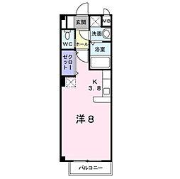 カレント上吉田IB[1階]の間取り