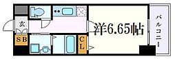 JR東海道本線 金山駅 徒歩7分の賃貸マンション 10階1Kの間取り