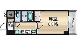 JR東海道・山陽本線 新大阪駅 徒歩10分の賃貸マンション 3階1Kの間取り
