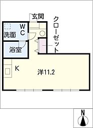 六条マンション[3階]の間取り