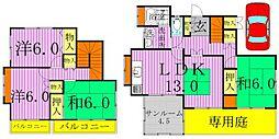 [一戸建] 千葉県柏市松ケ崎 の賃貸【千葉県/柏市】の間取り