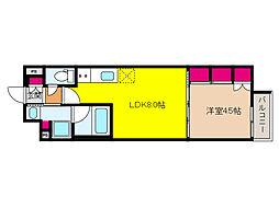 JR東海道・山陽本線 摩耶駅 徒歩9分の賃貸マンション 5階1LDKの間取り