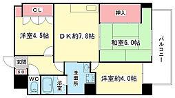 大阪府岸和田市下松町の賃貸マンションの間取り