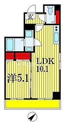 Vermilion(ヴァーミリオン) 2階1LDKの間取り