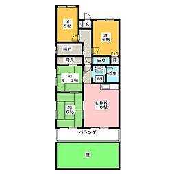 上前津サンハイツ106号室[1階]の間取り