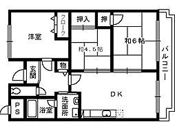 グランシャリオ高石[3階]の間取り