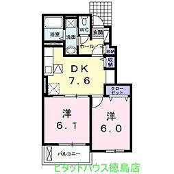 ラ・ドゥサーII[1階]の間取り