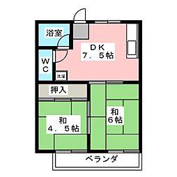 恵アパート[2階]の間取り