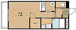 C&D apartment[203号室]の間取り