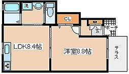兵庫県神戸市兵庫区下沢通4丁目の賃貸アパートの間取り