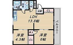 泉ヶ丘旭マンション[4階]の間取り