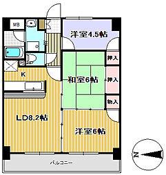 エクセレント結城II[4階]の間取り