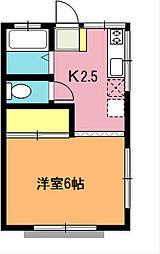 柿沼シティハイツC[2階]の間取り