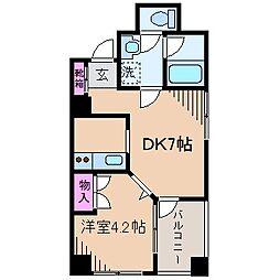 神奈川県横浜市鶴見区馬場3丁目の賃貸マンションの間取り