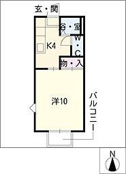 プラザハイツヤマト[2階]の間取り