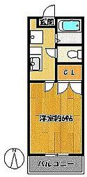 メゾンフォレスタ[1階]の間取り