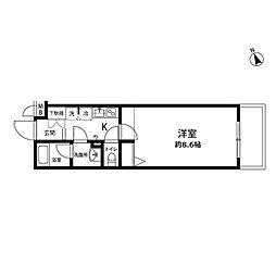 プレール・ドゥーク馬込[4階]の間取り