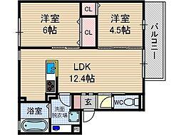 仮称)D-room桑田町[2階]の間取り
