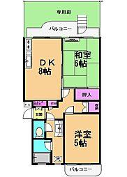 レジデンス八雲台[1階]の間取り