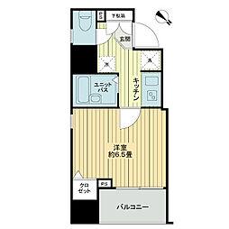 東京メトロ丸ノ内線 本郷三丁目駅 徒歩4分の賃貸マンション 13階1Kの間取り