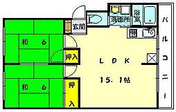 シャルムMUAN[2階]の間取り