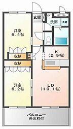 サンシャインA・江藤[1階]の間取り