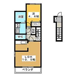 仮)蘇原寺島町M様新築アパートII[2階]の間取り