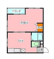 メゾンヒラカタ[3階]の間取り