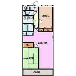 ジュネスYOU[1階]の間取り