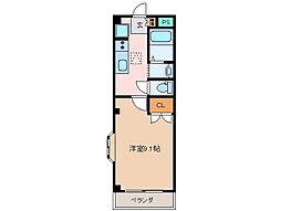 三重県松阪市春日町3丁目の賃貸アパートの間取り