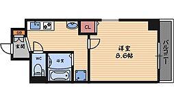 アルビオン西梅田[5階]の間取り