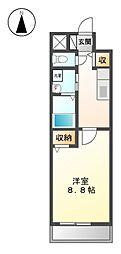 セジュール上飯田[5階]の間取り