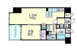 リーガル京都堀川五条通り 5階1LDKの間取り
